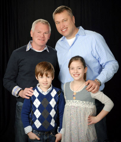 Lee Neubecker & David Neubecker with their adopted children Braiden and Michael Neubecker. Neubecker, is not only the President and CEO of Forensicon, Inc., he is also in a long term relationship with his Partner David Neubecker of 13 years. The couple became foster parents to their adopted children, Braiden and Michael Neubecker, when they were 4 and 3 years old respectively. Two years following first welcoming their children as foster parents, they were able to legally adopt the children as joint parents. The children are now ages 9 and 10.